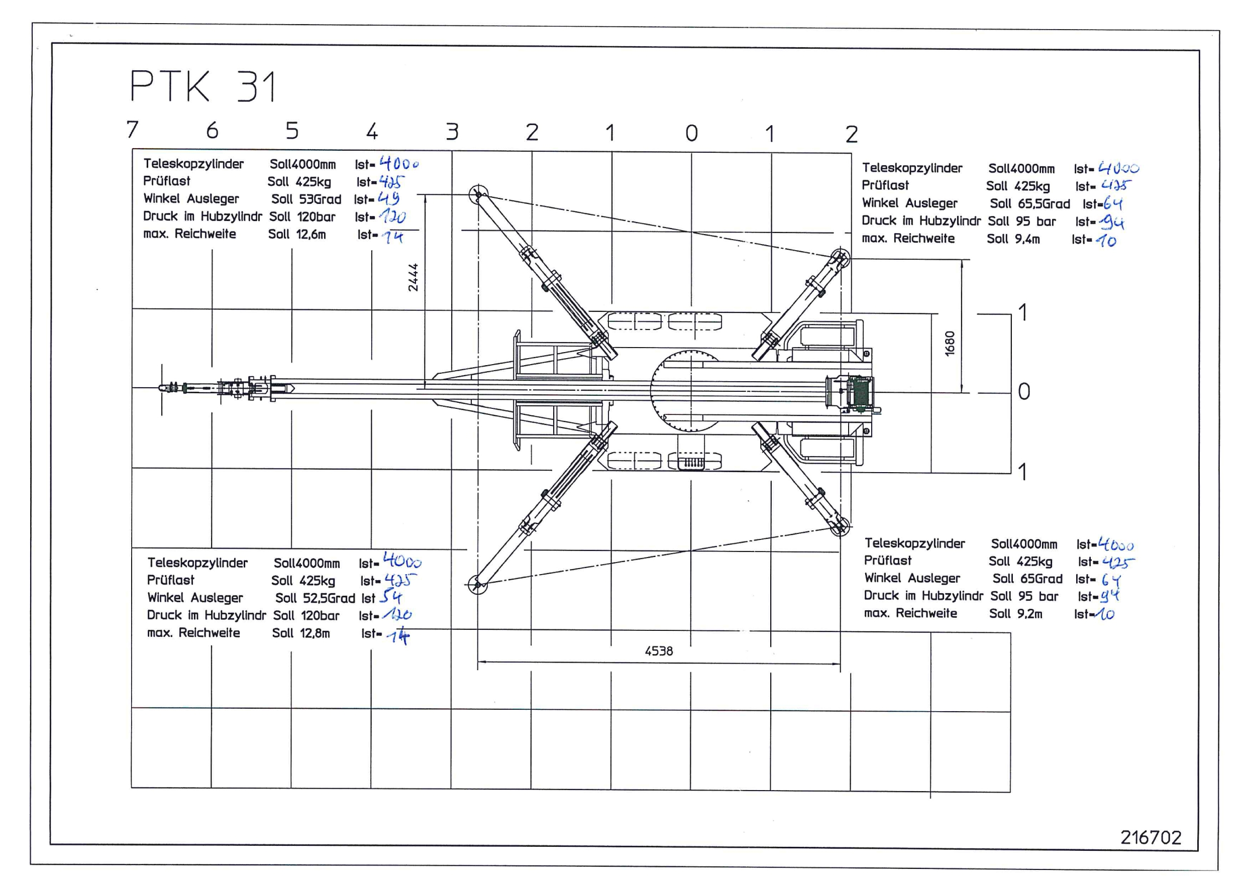 PTK 31 Crane Specifications
