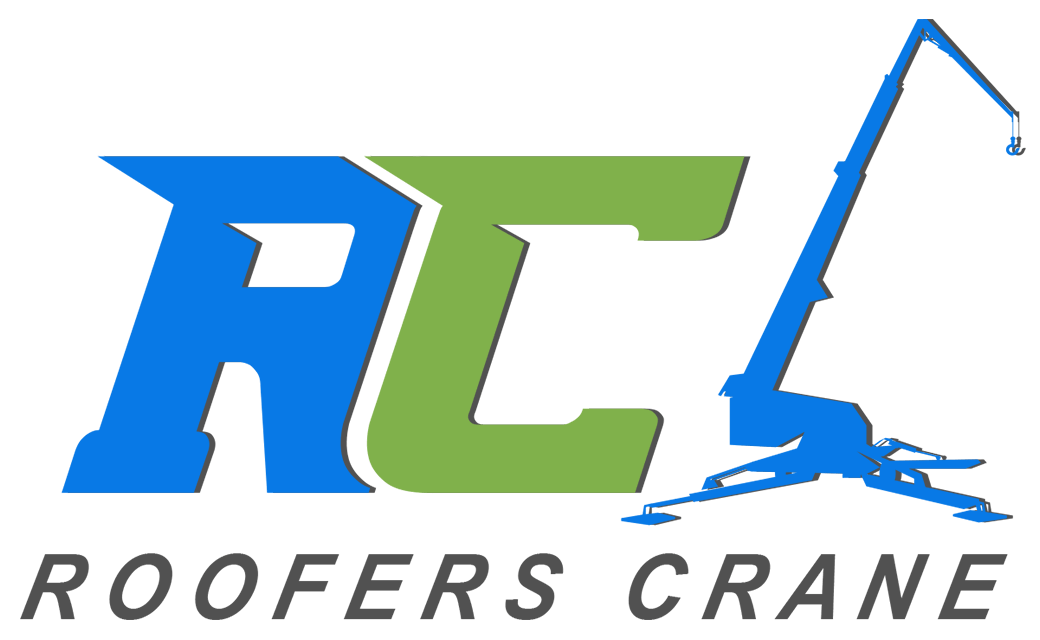 Roofers Crane Logo - Lifting Equipment Solutions